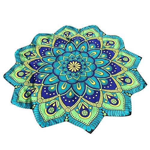 WENSY Lotus Hippie Fringe Print Flower Beach Towel Tapestry Beach Throw Pad Cushion Yoga Mat Bohemian Shawl
