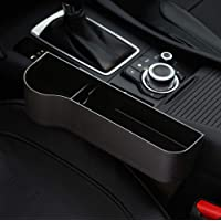 PU Leather XYLUCKY 2 Pack Car Seat Gap Filler Console Side Pocket With Coin Collector Car Seat Catcher Car Organizer