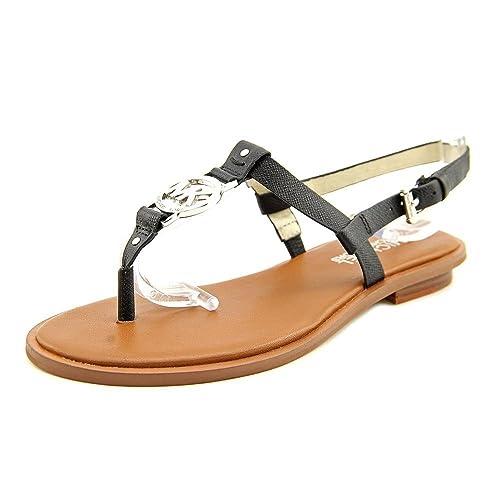 6f7466669660ea MICHAEL Michael Kors Women s Sondra Sandal (Black Saffiano 8.0 M ...