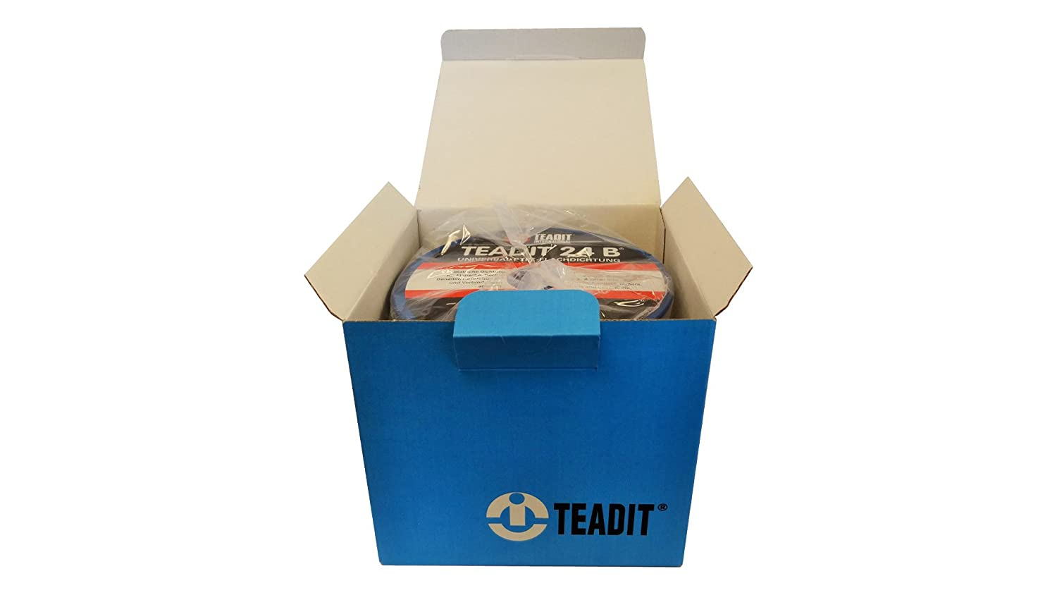 Sterling Seal and Supply STCC 1500.12550 1500 Teadit 24B White PTFE Joint Sealant for Applications in Steel Glass Lined PVC and Fiber Glass Pipe Flanges Fume Ducts Concrete Lids Heat Exchangers 1 8 Wide 50'