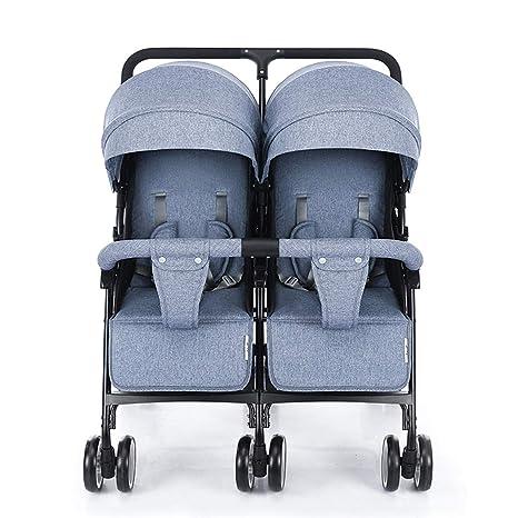 Cochecito Viaje Doble Plegable para Bebés, Respaldo Ligero ...