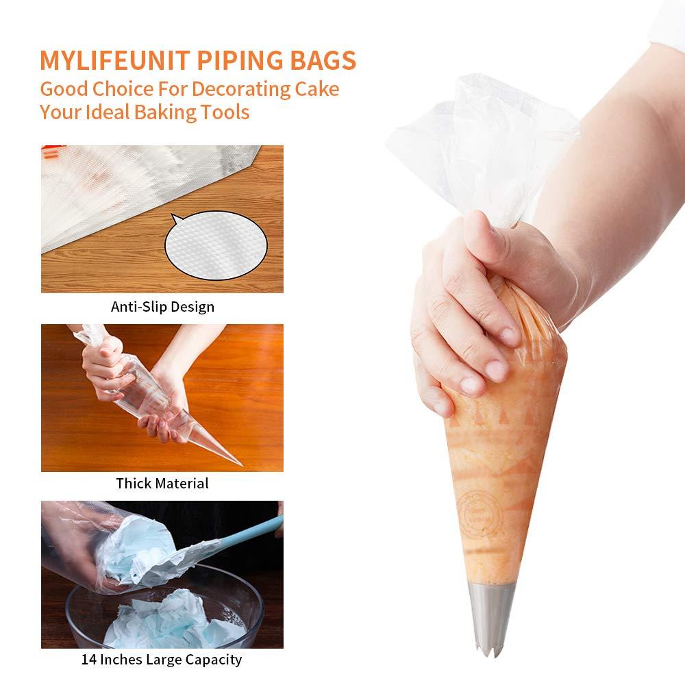 Amazon.com: MyLifeUNIT desechables crema manga pastelera ...