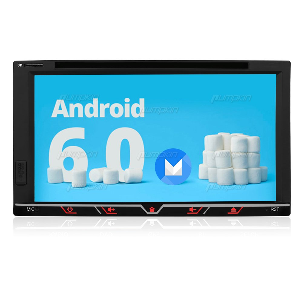 """Amazon.com: Android Double Din Car Stereo Radio 6.95"""" Touch Screen ..."""