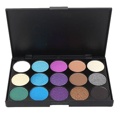 1X 15 Colores de Sombra de Ojos Paleta Herramienta Brillo Kit para Maquillaje Cosmético
