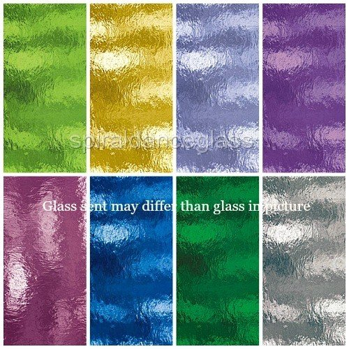 (Spectrum ROUGH ROLLED Transparent 8 Sheets Stained Glass Pack)