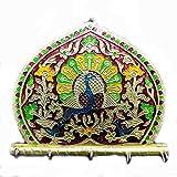 The Holy Mart Designer wall Hooks by Peacock key Holder   set of Hooks