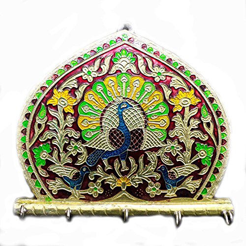The Holy Mart Designer wall Hooks by Peacock key Holder | set of Hooks by The Holy Mart