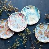 """Paris Flea Market """"Paper"""" Plate, 9"""" Melamine Plates set of 4"""