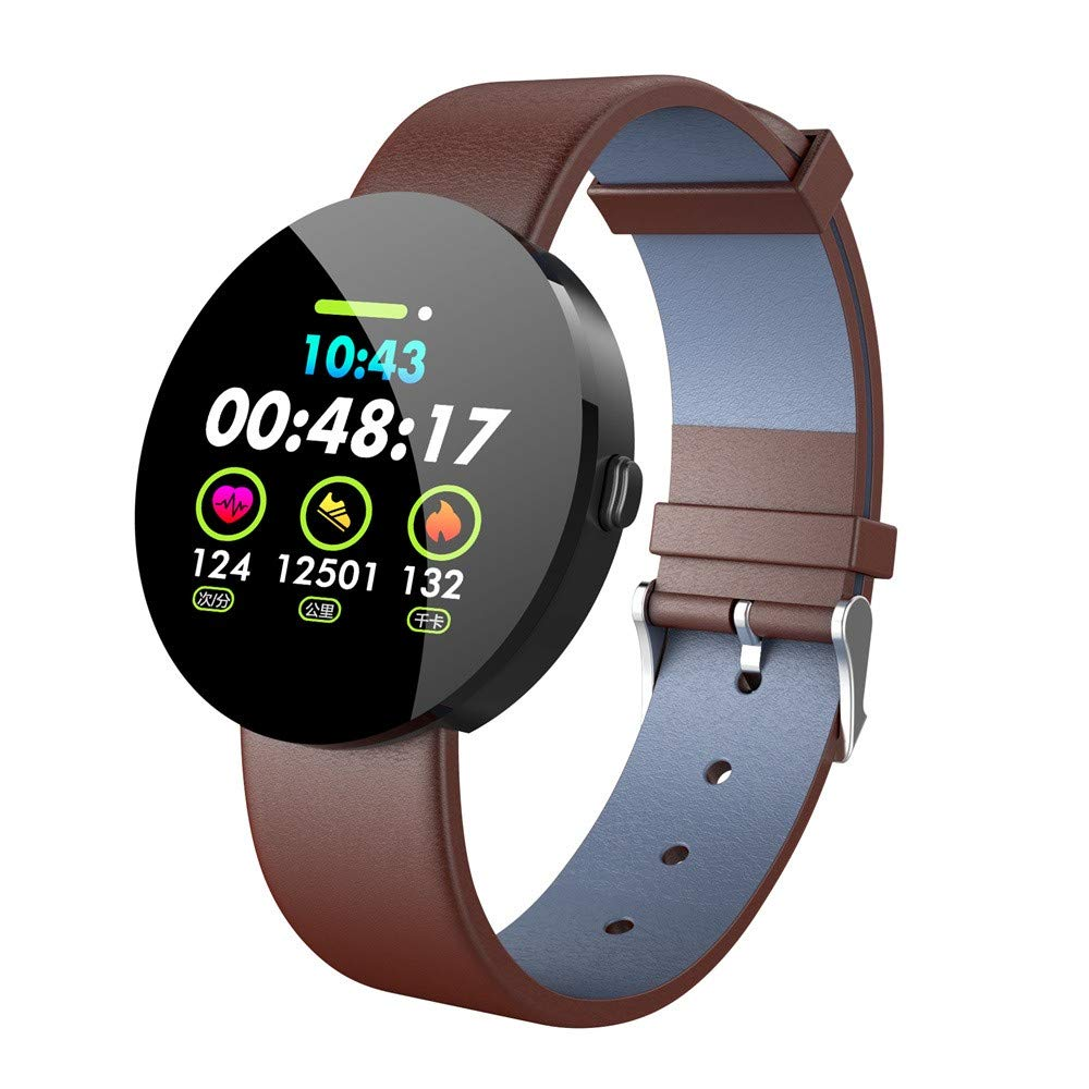 Smart Watch Sports Fitness Activity Y11 Smart 1.3 Inch IPS Colour Display Heart Rate Monitor Fitness Tracker Watch (1 PC, Brown)