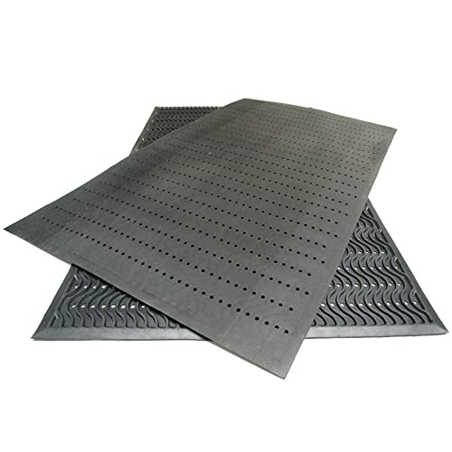 Rubber-Cal 03-213-BK Ultra Scraper Outdoor Rubber Commercial Entrance Mats, 3 x 5 , Black
