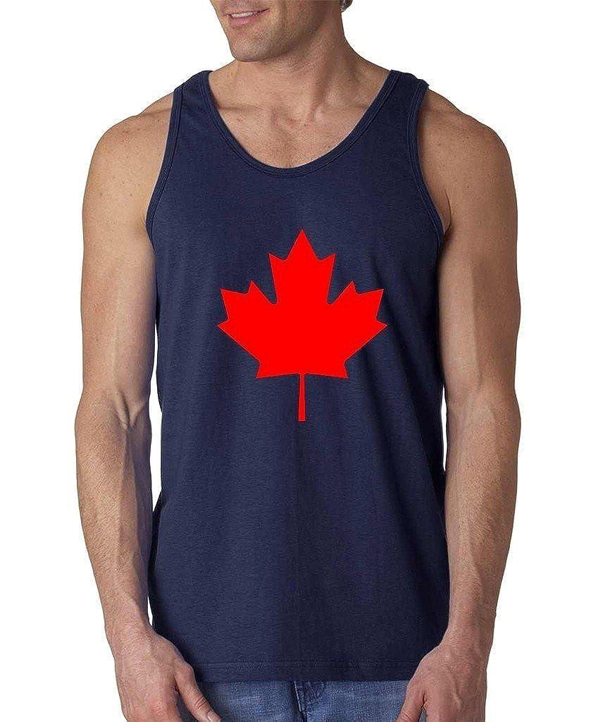 Canada Maple Leaf Men Tank Top Small Navy Blue Artix A