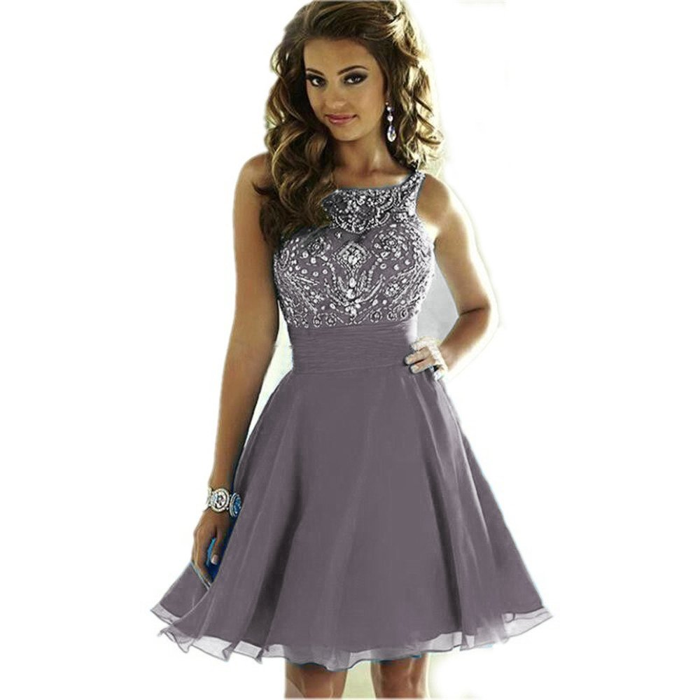 2cea9f206f2 CCBubble Short Prom Dresses 2018 Lace Up Beaded Homcoming Graduation Dress   Amazon.ca  Clothing   Accessories