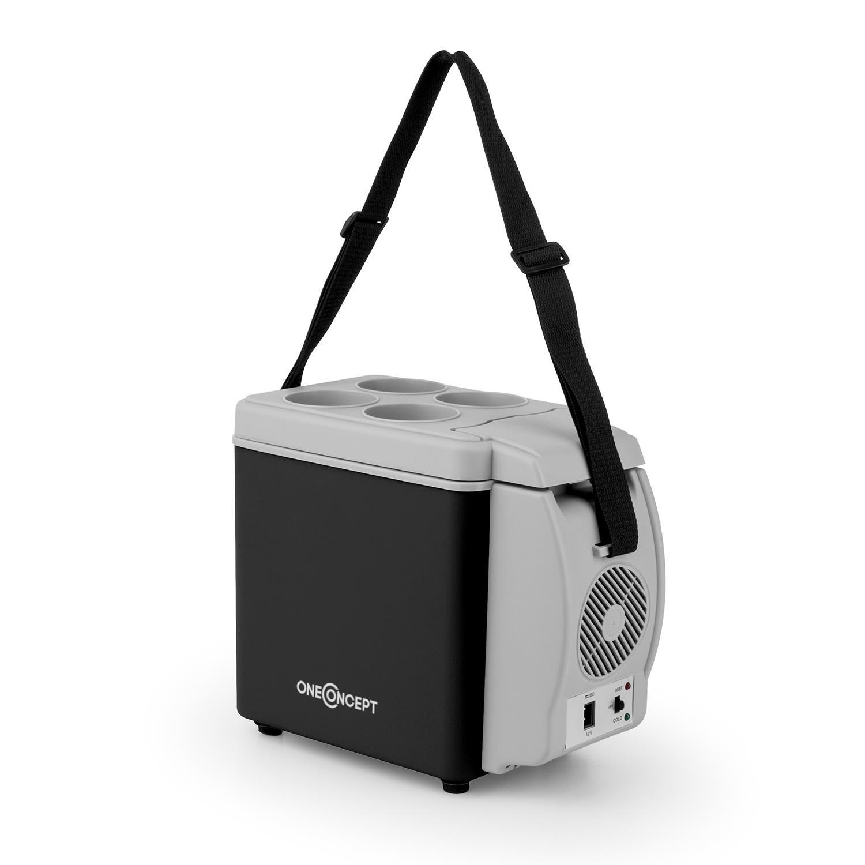 OneConcept Roadtrip • Kühlbox • Warmhaltebox • Kühltasche • Mini Thermobox • 6 Liter • 40 Watt • 12 Volt Kabel • Abstellfläche für 4 Becher • Tragegurt • Lüfter • leise •