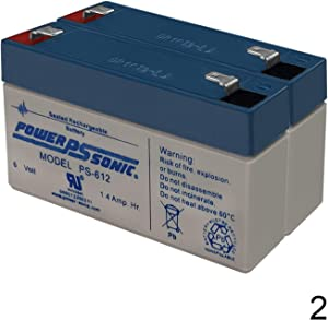 Power Sonic 6V 1.4AH Replacement Battery for GE Simon XT III V3 Alarm - 2 Pack