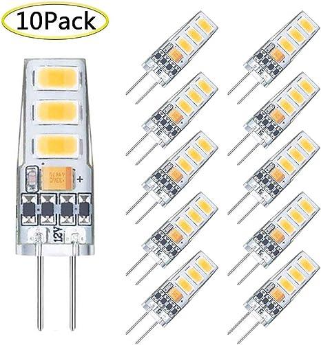 Amazon Com G4 Led Bulb Mini 2 Watt G4 Bulb Equivalent To 20w G4 Halogen Bulb Replacement T3 Jc Type Bi Pin G4 Base Ac Dc 12v Warm White 3000k G4 Light Bulb 10 Pack