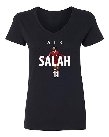 7677eae3545 Tcamp Soccer Liverpool Air Salah  11 Mohamed Salah Women s V-Neck TShirt  (Black