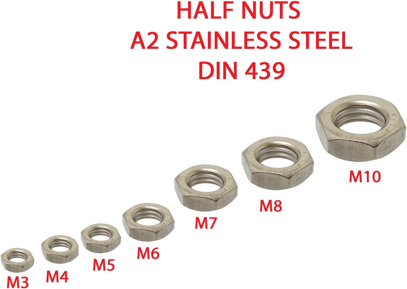 M10 x 1.5 HSS Hexagon Die Nut Metric Course Threading//Hex Shank Hexagonal M10 x 1.5 10mm