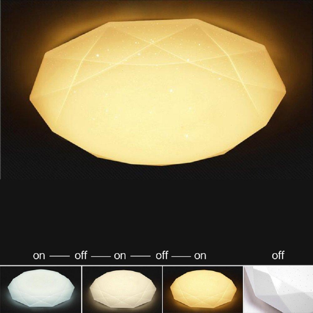 60W LED Deckenlampe Deckenbeleuchtung Farbwechsel Starlight Effekt Decken Flurleuchte Badleuchte Treppen Badlampe Sternenhimmel Wandlampe Leuchte Badlampe 3in1