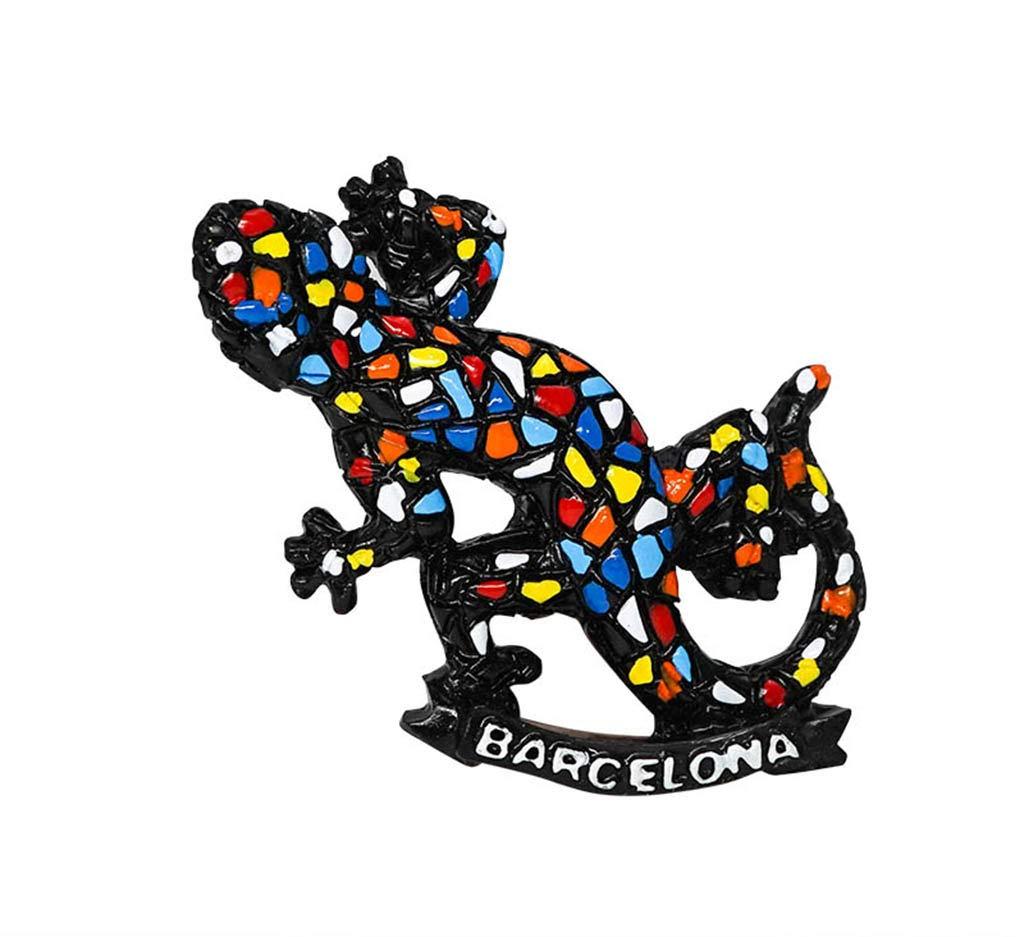 zamonji Lagartija Gecko Estilo Mosaico Barcelona España 3D Imanes ...
