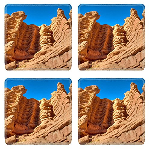 Luxlady Square Coasters IMAGE ID 2120245 ancient caveman place in high cliff Morocco dades valley