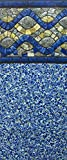 Smartline 24-Foot Round Chesapeake Gemstone Liner | Duo Bead Style | 52-Inch Wall Height | 25 Gauge Virgin Vinyl | Designed for Steel Sided Above-Ground Swimming Pools