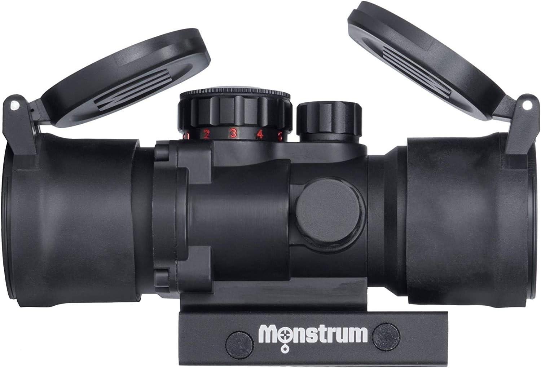 Monstrum S330P 3X Prism Scope   Monstrum Flip Up Lens Cover Set   Bundle