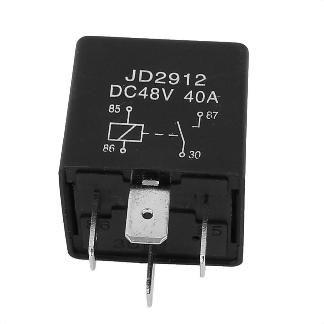 sourcing map JD2912 DC 48V 40A 1NO 4 Pins Voiture v/éhicule relais alimentation s/écurit/é 5pcs