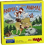 HABA Animal Upon Animal - Crest Climbers A Swiss-Inspired Wooden Animal Stacking Game (Made in Germany)