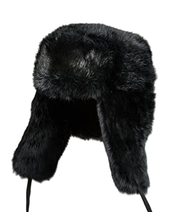 Rabbit Fur Russian Ushanka Hat at Amazon Men s Clothing store  673f411bdf3