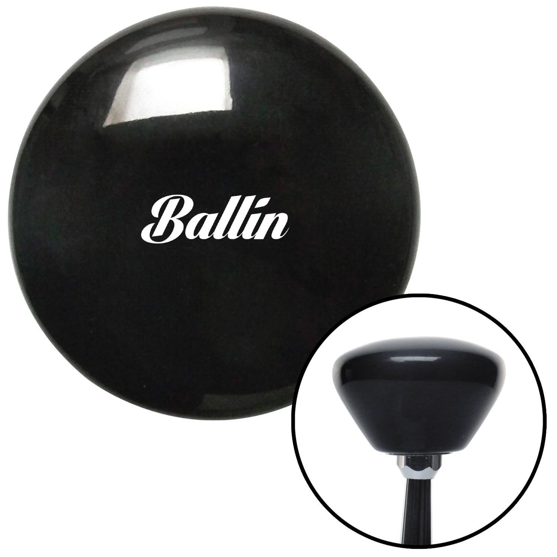 White Ballin Black Retro with M16 x 1.5 Insert American Shifter 281765 Shift Knob