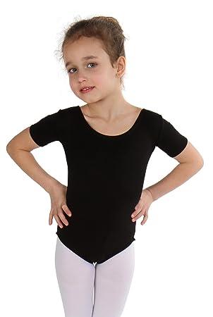 Combinaison robe Ballet Ballet Body Ballet manches courtes fille ballet  Maillot 2223ce4d113