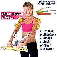 Bestyling résistance Bande d'exercice, Wonder Bras de machine d'entraînement pour le haut du corps et Renforce les bras Biecps épaules Coffre arrière, force de fitness pour amateurs de fitness
