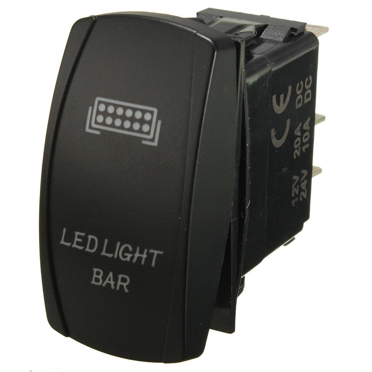 Lot de 12/V 40/A 300/W kit de c/âblage avec relais fusible Faisceau de c/âblage Barre lumineuse LED Interrupteur /à bascule