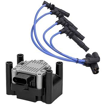 ECD Germany Bobina de encendido + Cable de encendido Juego de cables de encendido: Amazon.es: Coche y moto