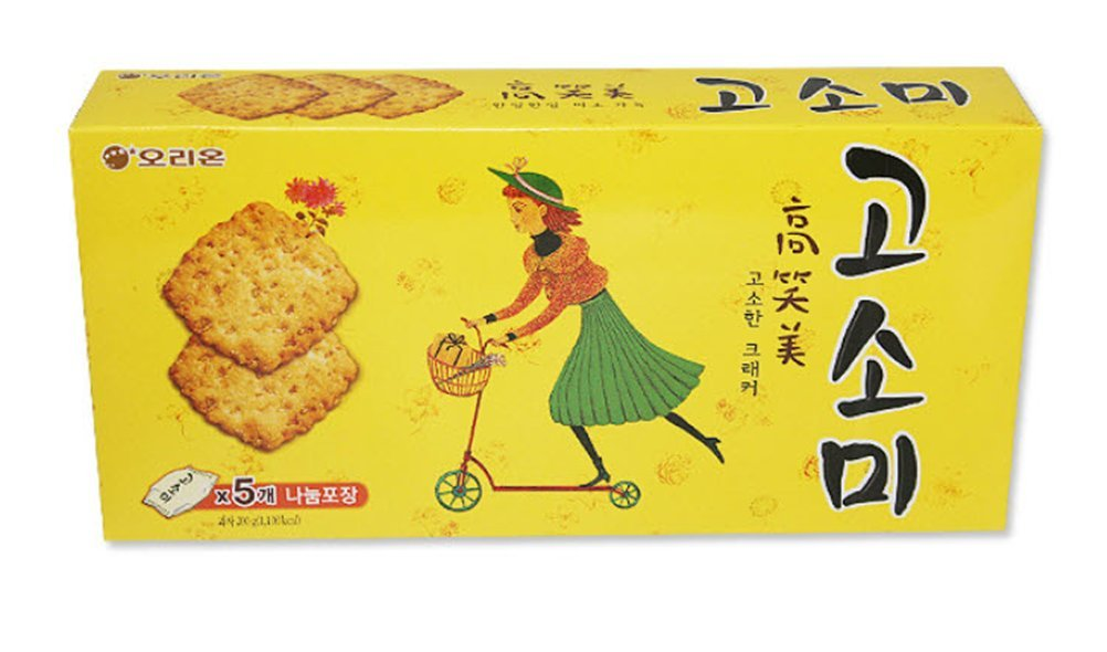 Korean Snack Orion Gosomi Sweet Cookie Cracker 200g (Pack of 3) Party Food Gift Promotion Children Nutritious Snacks