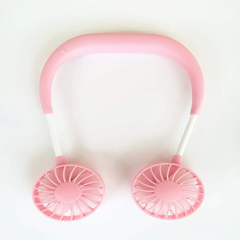 Neckband USB Fan Creative Headphone Design Neckband Fan USB Rechargeable Portable Mini Fan for Traveling Outdoor Office Cooling Fan