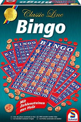 Schmidt Spiele 49089 - Classic Line: Bingo (Zahlensteine sind aus Holz)