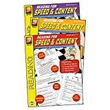 Remedia Publications REM1043 Reading for Speed & Content 3-Book Set Grade 0.79'' Height, 8.66'' Wide, 11.26'' Length (Pack of 3)