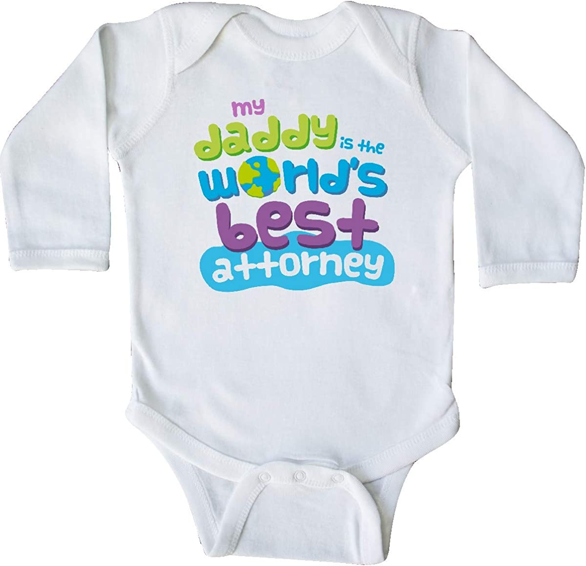 inktastic Attorney Dad Lawyer Gift Long Sleeve Creeper