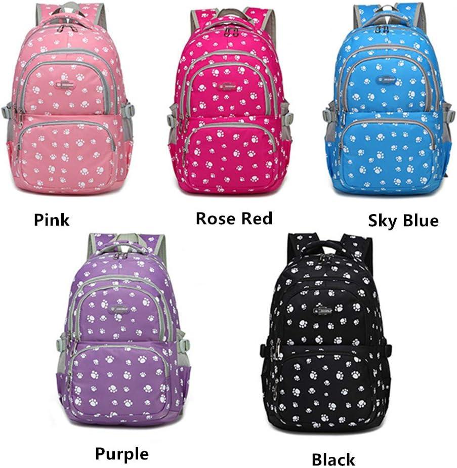 MITOWERMI Girls Waterproof Backpack Set 3 in 1 School Backpack with Lunch Tote and Pencil bag Kids Bookbags Elementary School Bag