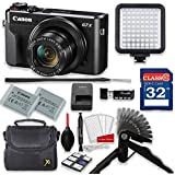 Canon PowerShot G7 X Mark II 20.1MP 4.2x Optical Zoom Digital Camera Video Creator Kit + 32GB High Speed Memory Card + Steady Grip + LED Video Light + Extra Battery + Professional Accessory Bundle