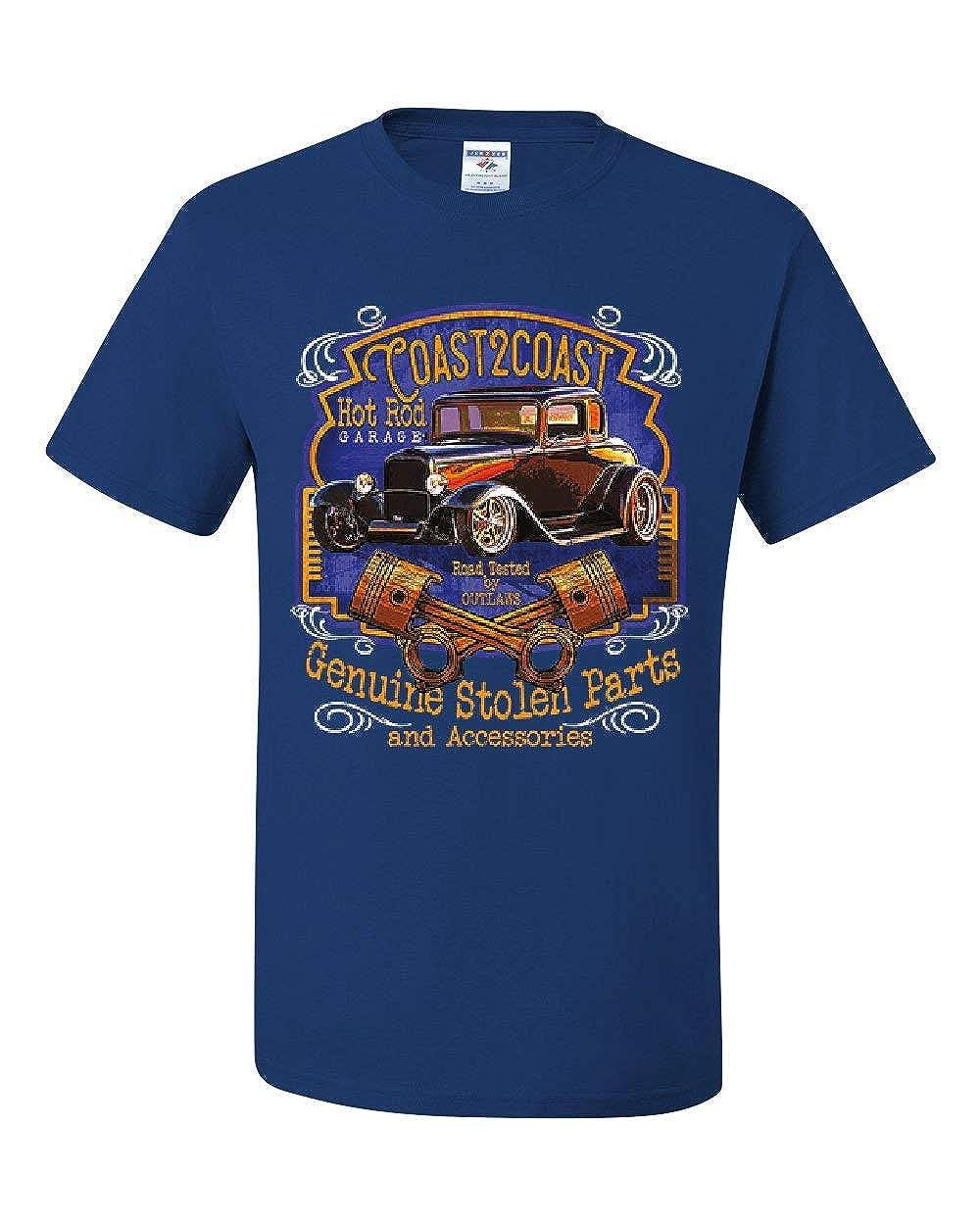 Coast 2 Coast Hot Rod Garage T-Shirt American Outlaw Route 66 Tee Shirt