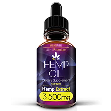 Pure Extract Hemp Seed Oil 3500MG, Pain Relief, Relaxation, Sleep, Anxiety  and Mood Support,