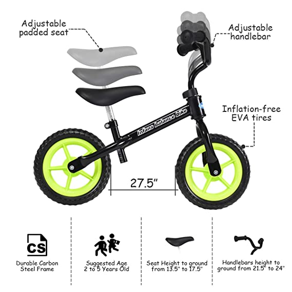 Super Infans Lightweight Balance Bike Kids Training Bicycle With Height Adjustable Seat Handlebar Inflation Free Eva Tires No Pedal Pre Walking Bike Alphanode Cool Chair Designs And Ideas Alphanodeonline