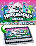Hatchimals Topper Personalized Birthday 1/4 Sheet Decoration Custom Sheet Party Birthday Sugar Frosting Transfer Fondant Image ~ Best Quality Edible Image for cake