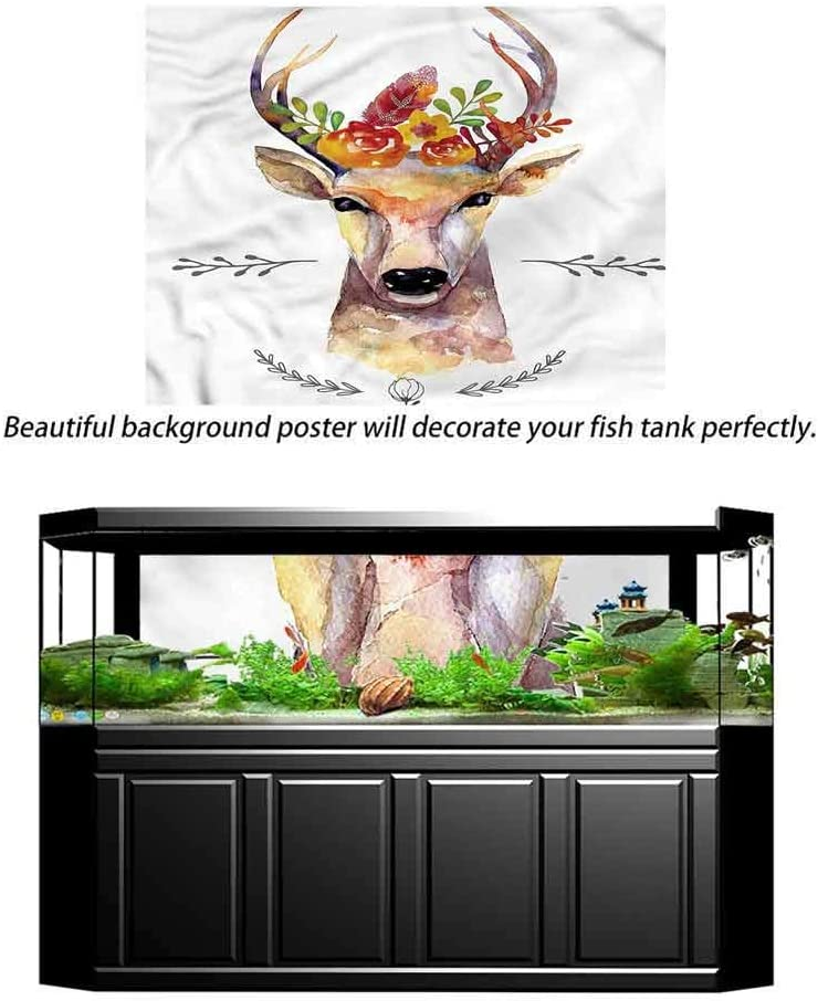 ScottDecor Indie Undersea Backdrop for Photography Watercolor Deer Rustic Photography Background L36 X H16 Inch