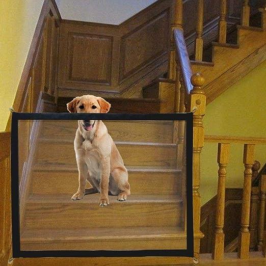 NiLeFo Red mágica para Perro, Puerta para Mascotas, Escalera, Puerta de Coche, Barrera de Seguridad portátil, Plegable: Amazon.es: Productos para mascotas