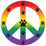 Imagine This Magnet Peace Dog Rainbow