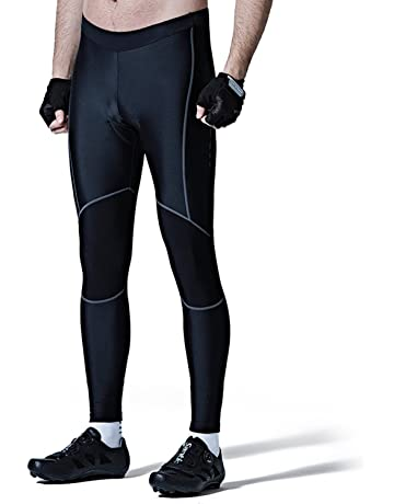 77b26395a Santic Men s Cycling Bike Pants 4D Padded Long Bicycle Compression Tights  Breathable Trousers Black