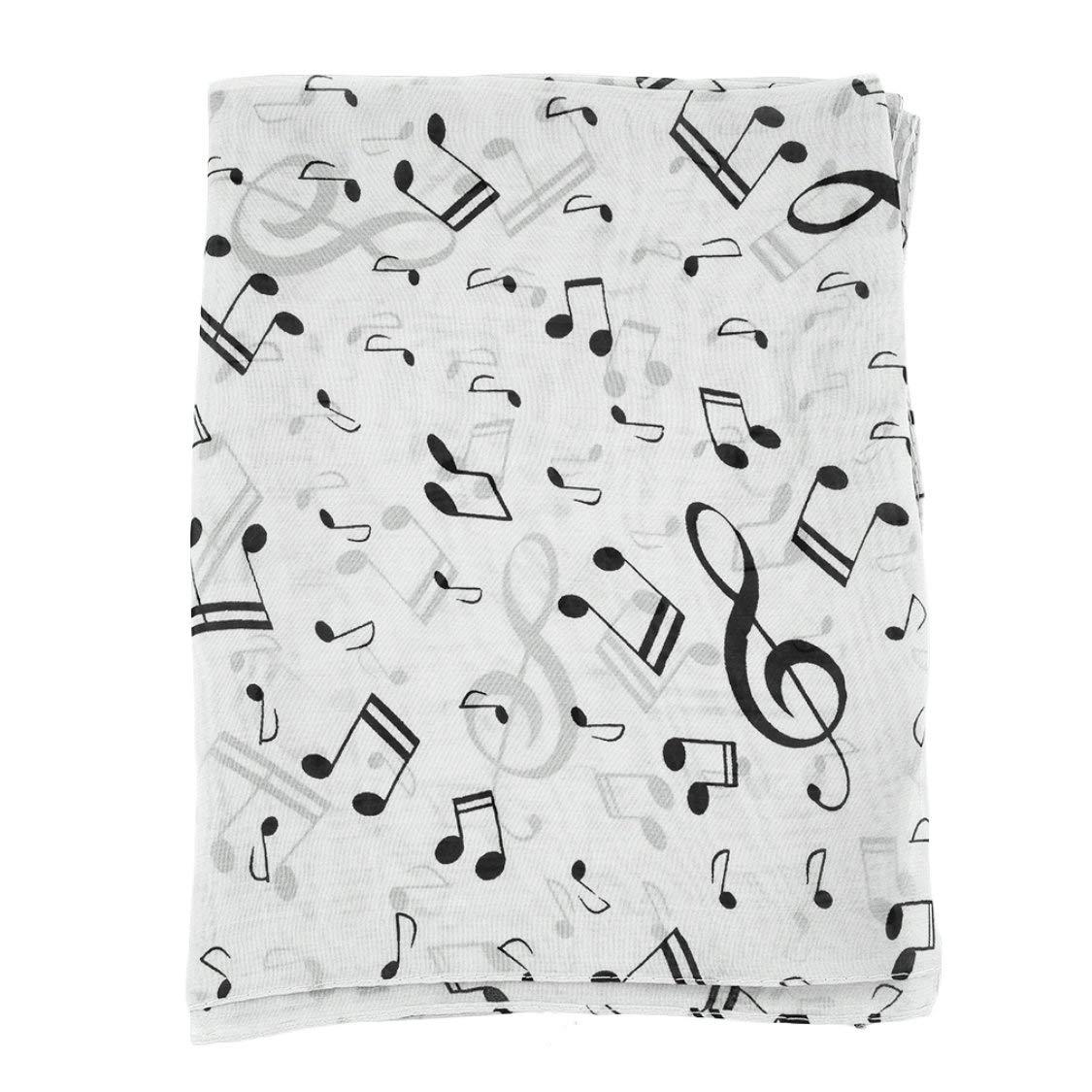 ITFancysweety Nota musicale Sciarpe eleganti in chiffon Sciarpa donna Scialle Stole lunghe Silenziatore a molla Sciarpa comoda per esterni